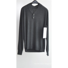 Men V-Neck Pure Color Knit Pullover Sweater